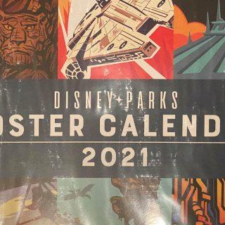 poster calendar front 2021 Disney Parks