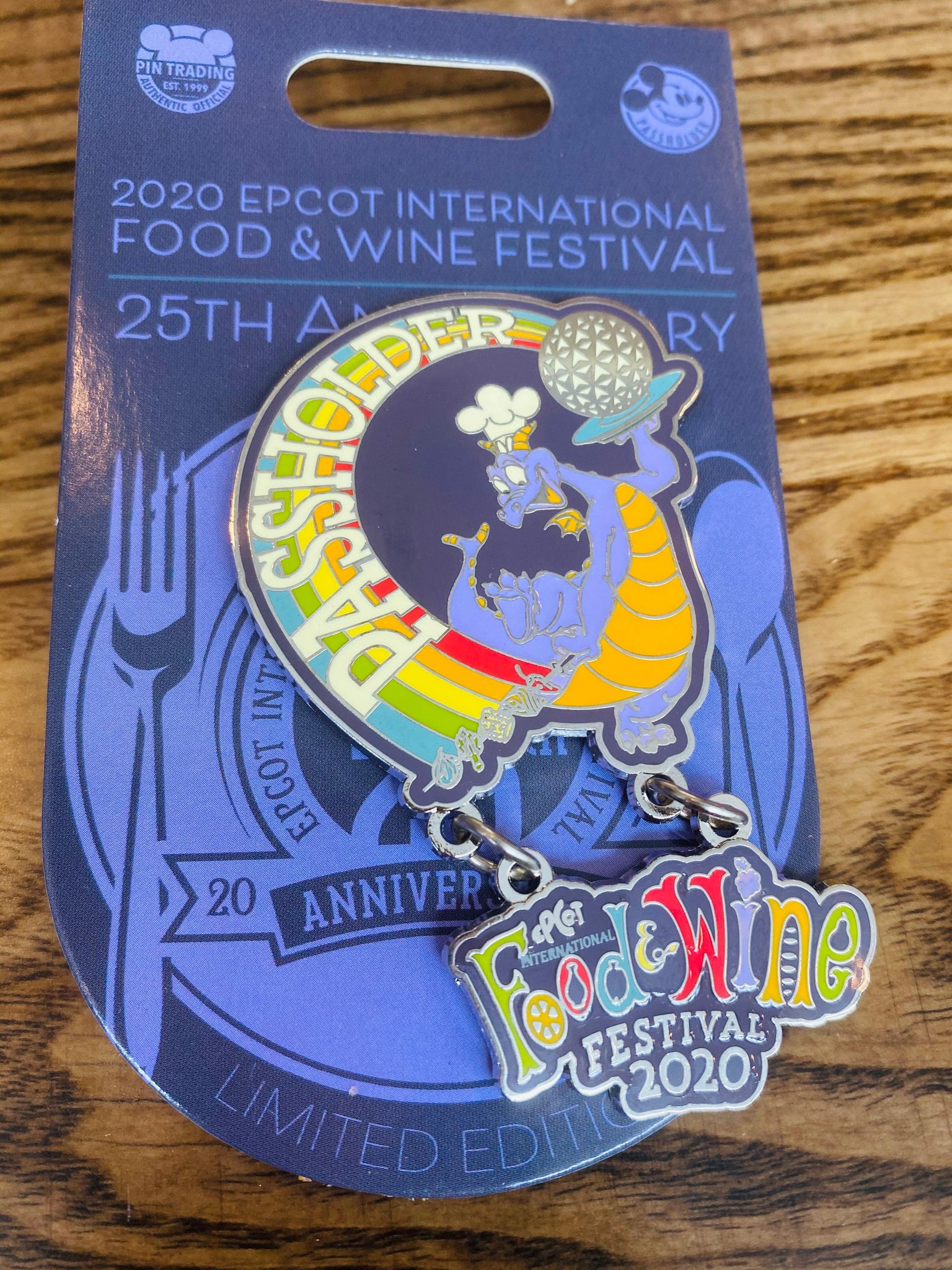 figment food and wine pin