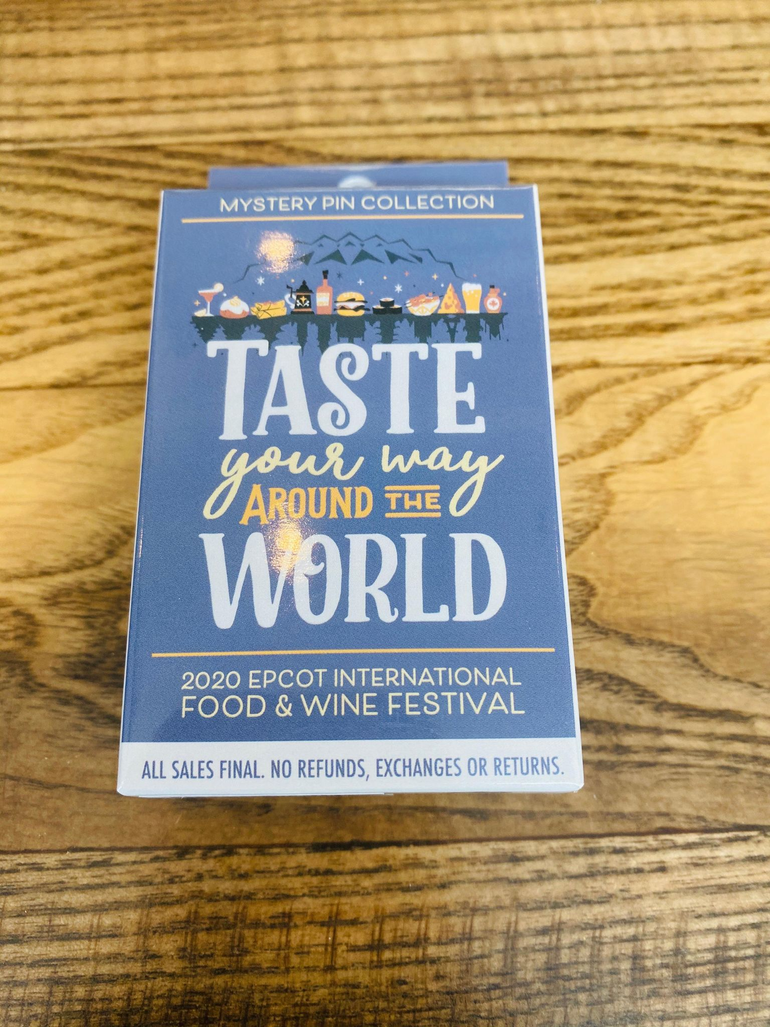 mystery food and wine pin