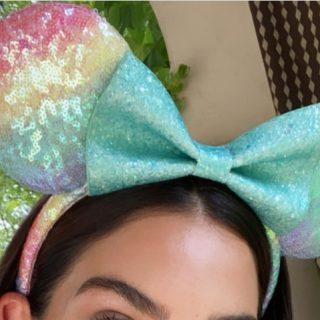 rainbow pastel minnie ears designer