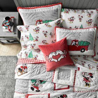 mickey Christmas bedding