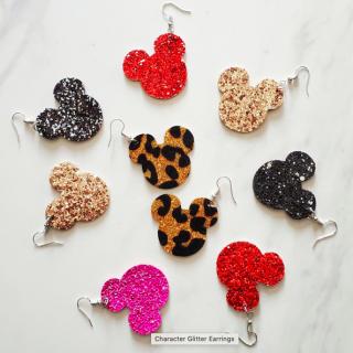 mickey shaped earrings