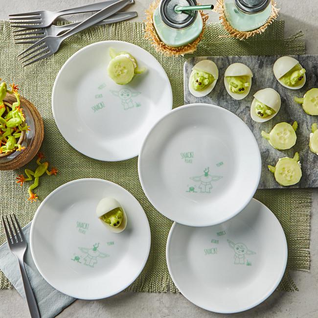 corelle Baby Yoda plates