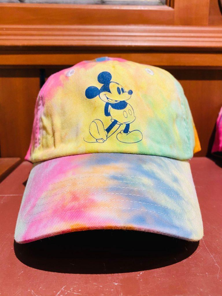 tie-dye mickey hat