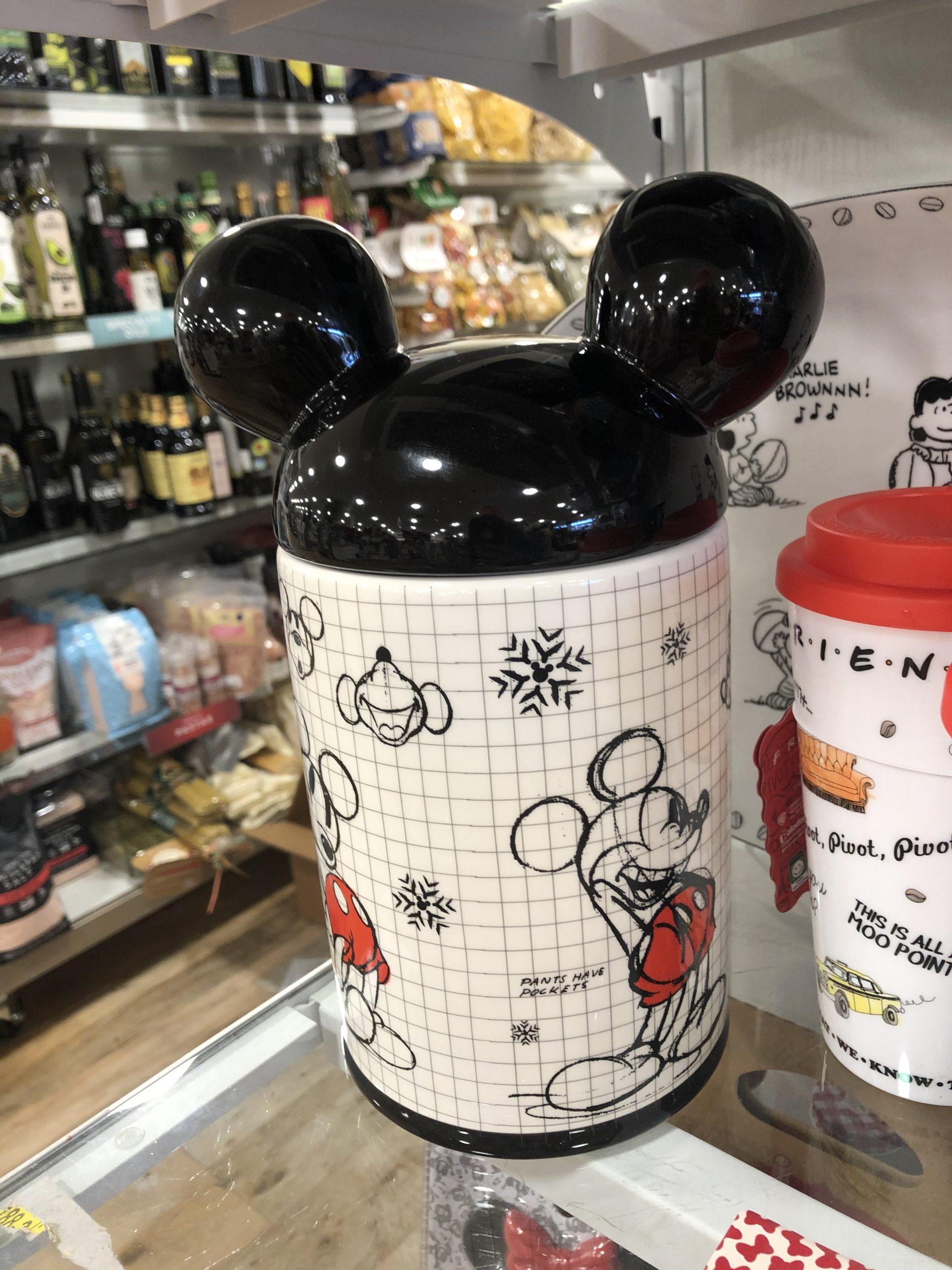 santa Mickey cookie jar