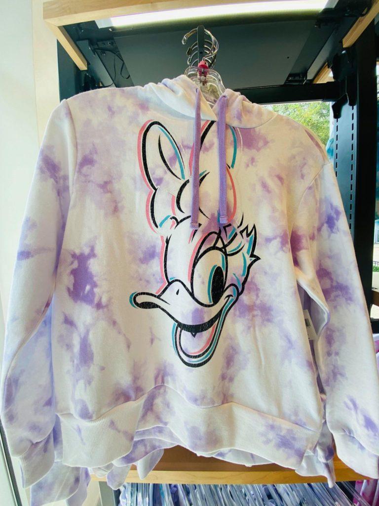 tie dye daisy pullover
