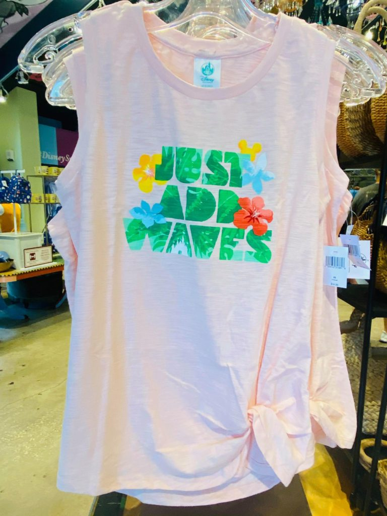 tropical mickey and minnie tank