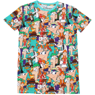 Phineas and feb all over print