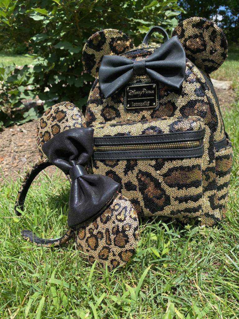 Leopard Print Loungefly Mini Backpack, Minnie Ears